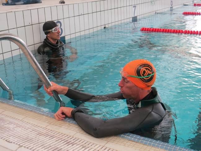 Morgan Bourc'his et son partenaire d'entraînement Florent.