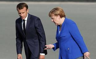 Emmanuel Macron et Angela Merkel en juillet 2018.