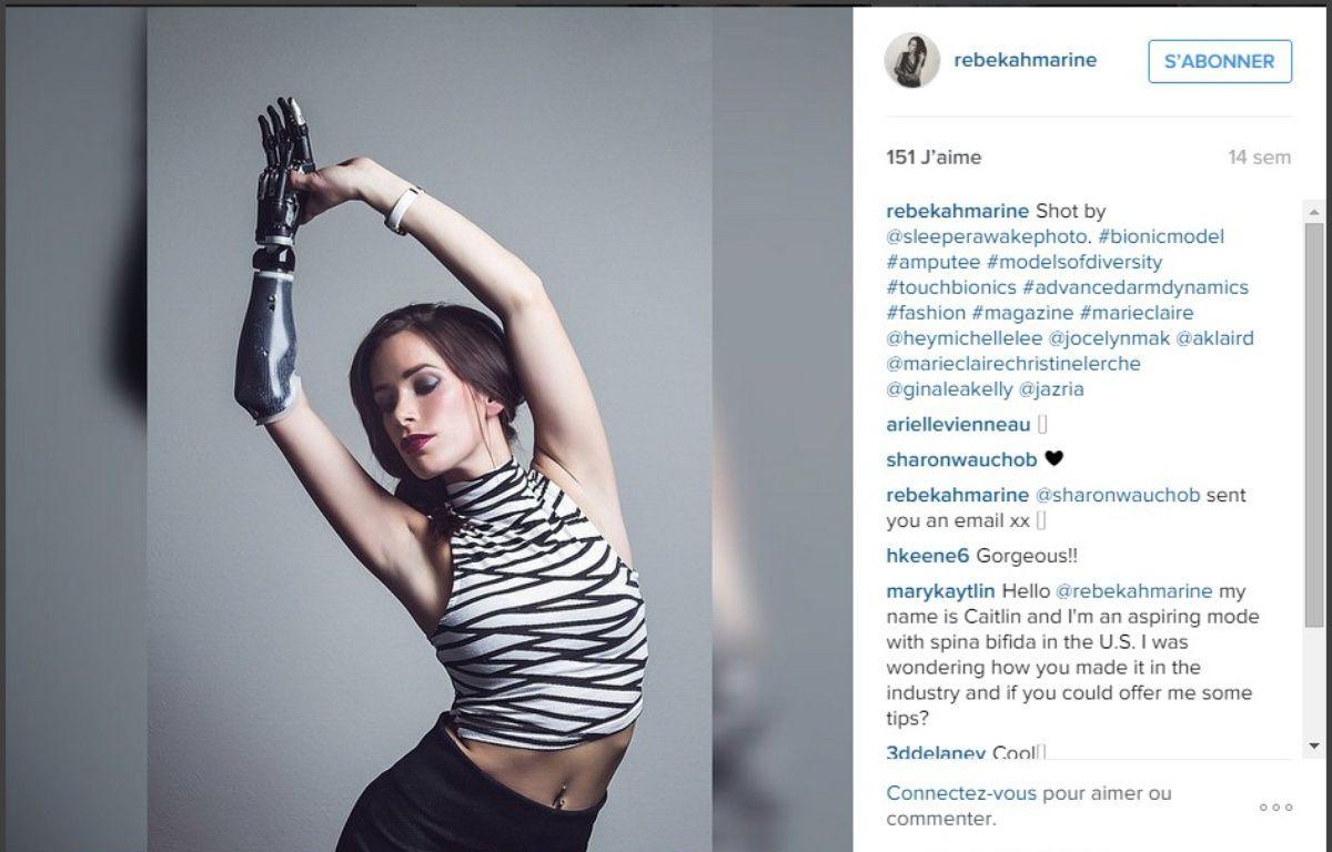 Le mannequin Rebekah Marine a une prothèse bionique. – Sleeperawake/Rebekah Marine via Instagram