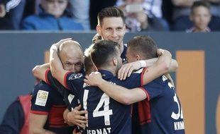 Les joueurs du Bayern fêtent le titre