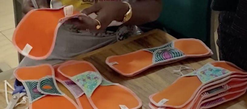 ApiAfrique fabrique des serviettes hygiéniques au Sénégal, avec Brut.
