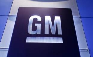 Le logo du constructeur automobile américain General Motors (GM).