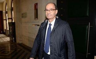 L'ex-ministre Eric Woerth au tribunal de Bordeaux le 24 mars 2015