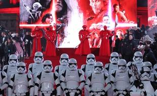 Sur le tapis rouge de l'avant-première de «Star Wars - Les derniers Jedi», à Londres, le 12 décembre 2017.