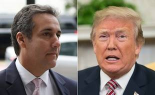 Donald Trump et son ancien avocat, Michael Cohen.