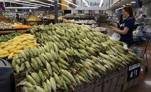 Du maïs en vente dans un supermarché américain (image d'illustration).