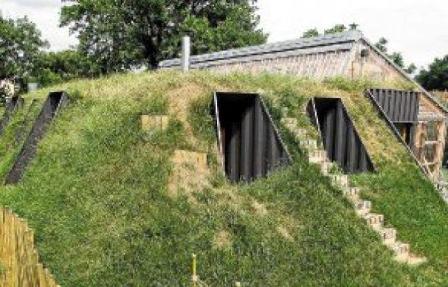 La construction de cette maison, en partie enterrée, a coûté 150000€.