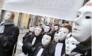 Manifestation d'avocats à Lille en 2010