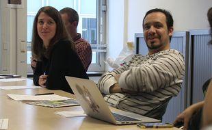 Alexandre Astier assiste à la conférence de rédaction de «20 Minutes», le 25 novembre 2015.
