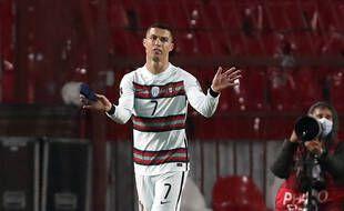 Cristiano Ronaldo, contre la Serbie