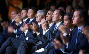 Vladimir Poutine et Barack Obama parmi les chefs d'Etat réunis pour le sommet du G20 le 15 novembre 2014.
