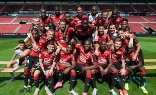 Paul-Georges Ntep (au centre), l'ambianceur n°1 du Stade Rennais.