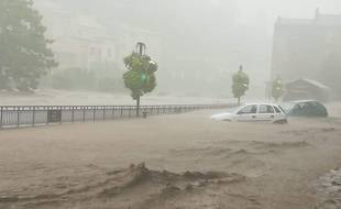 Le Gard a été touché par de violentes inondations, notamment à Valleraugue.