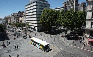 Le quartier Belsunce dans le centre ville de Marseille près de la canebière qui a été recemment rénové et ou passe le tramway