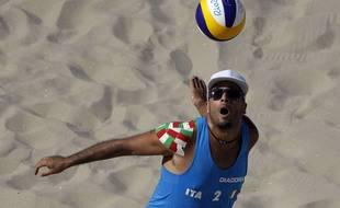 L'Italien Adrian Carambula est le spécialiste du skyball, ici lors des JO de Rio, en 2016.