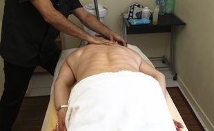 Illustration d'un salon de massage.
