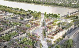 Le projet de Rue Bordelaise, est un méridien de 600 m de long, qui relierait la gare de Bordeaux aux quais de la Garonne.