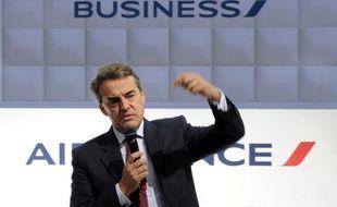 Le PDG de Air France, Alexandre de Juniac, lors d'une conférence de presse, le 4 février 2014