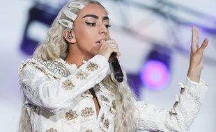 Bilal Hassani lors d'un concert à Toulouse le 14 juillet 2019