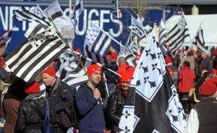 Des Bonnets rouges se retrouvent à Morlaix le 8 mars 2014