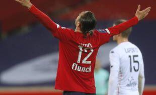 Yusuf Yazici célèbre son premier but face à Lorient