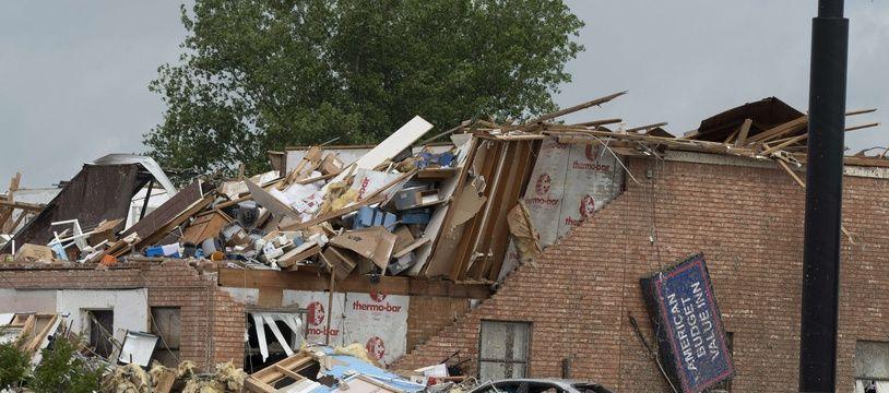 Les dégâts après la tornade qui a touché l'Oklahoma, le 26/05/2019. J Pat Carter/Getty Images/AFP