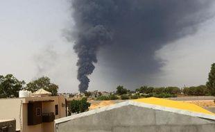 Incendie d'un dépôt pétrolier en Libye, en juillet 2014