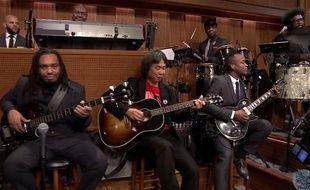 Shigeru Miyamoto et The Roots sur le plateau du «Tonight Show».