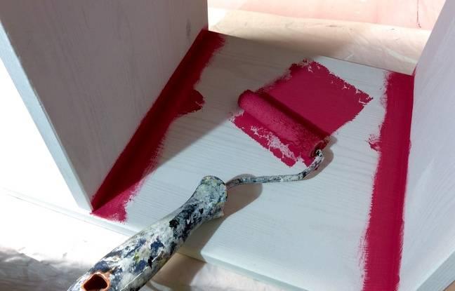 Diy comment transformer un meuble en kit pas glop en une - Rouleau a rechampir ...
