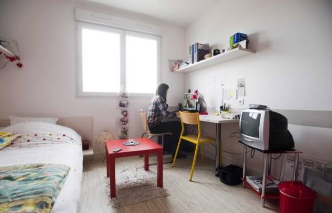 Dans une résidence étudiante à Angers en janvier 2011.