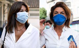Les candidates à la mairie de Marseille Michèle Rubirola (Union de la gauche) et Martine Vassal (LR) le 28 juin 2020.