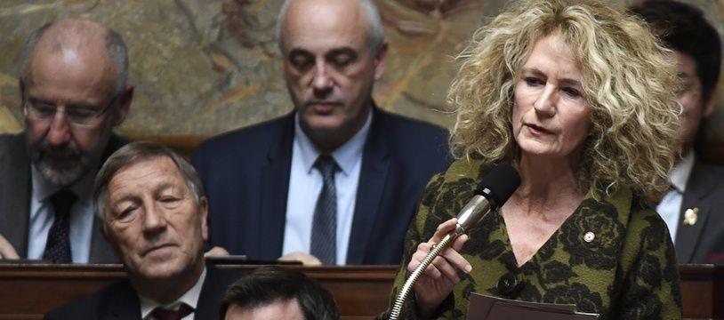 La députée LREM Martine Wonner dans l'hémicycle, le 14 novembre 2017.
