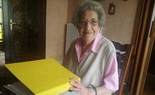 Estelle Moulin, 100 ans, est bénévole aux Petits Frères des Pauvres de Toulouse depuis 1987.