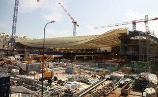 Reamenagement du Forum des halles avec le projet de construction de la Canopee Paris-France-11/06/2014/JDD_1227.30/Credit:JULIEN DE FONTENAY/JDD/SIPA/1406151301