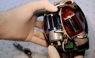 Un coeur artificiel de la société Carmat, le 24 septembre 2009 à Vézily près de Paris