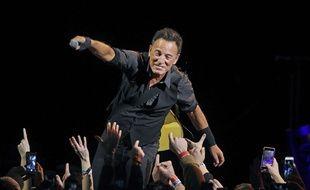 Le chanteur Bruce Springsteen en concert à Chicago le 19 janvier 2016