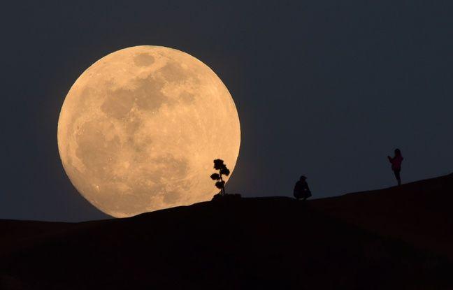 La Lune, le 30 janvier 2018 à Los Angeles.