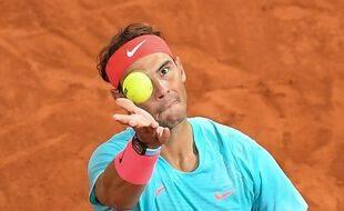 Rafael Nadal lors de Roland-Garros en octobre 2021.