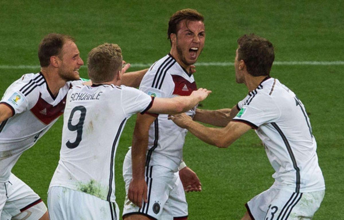 Mario Götze après son but victorieux face à l'Argentine, le 13 juillet 2014 –  SIPANY/SIPA