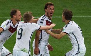 Mario Götze après son but victorieux face à l'Argentine, le 13 juillet 2014