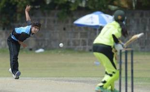 Diana Baig lors d'un match de cricket à Islamabad, le 25 avril 2016