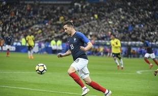Florian Thauvin lors de France-Colombie (2-3) en amical, le 23 mars 2018 au Stade de France.