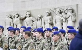 Des soldats lors d'une cérémonie à Aarhus, au Danemark, en 2018.