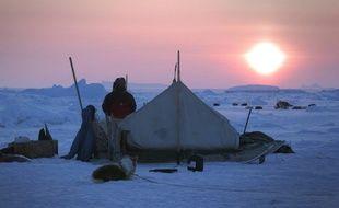 Sur la banquise dans Il était une fois l'Arctique.
