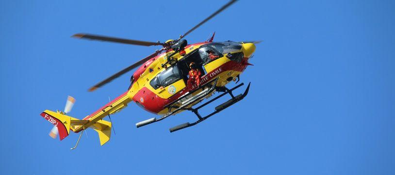 Illustration d'un hélicoptère de la sécurité civile