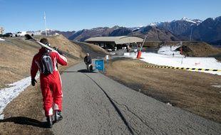 La station de ski de Luchon-Superbagnères, dans les Pyrénées, le 7 février 2020.
