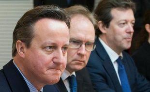 Le Premier ministre britannique David Cameron 16 février 2016 à Bruxelles