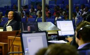 Une photo du procès pour génocide des deux adjoints de Pol Pot, publiée par les Chambres extraordinaires des tribunaux cambodgiens (ECCC), le 14 septembre 2015 à Phnom Penh