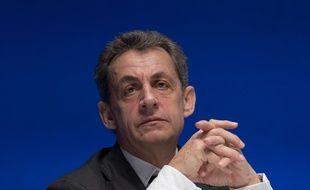 Nicolas Sarkozy, président LR, le 2 juillet à la Mutualité  à Paris.