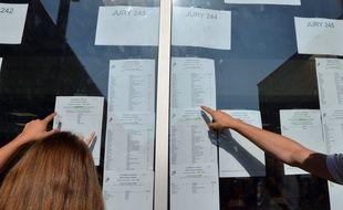 Les candidats découvrent ce matin les résultats du BAC 2019. Crédit:ALLILI MOURAD/SIPA.